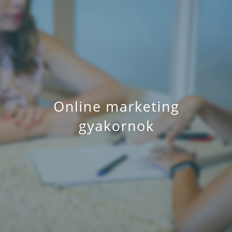 Online marketing gyakornok